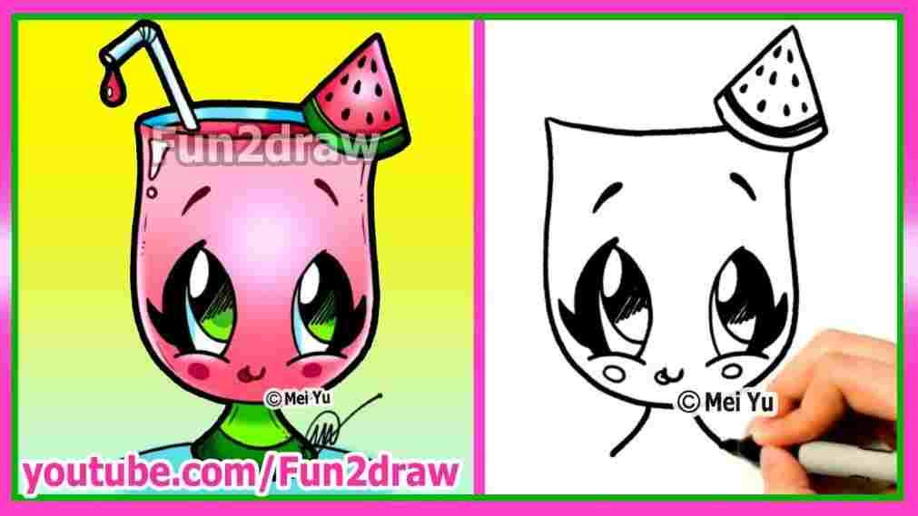 1011x569 How Easy Summer Season Drawing To Draw Cartoons Cute Easy