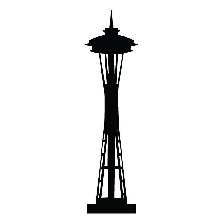 721x721 seattle space needle silhouette art docent seattle tattoo