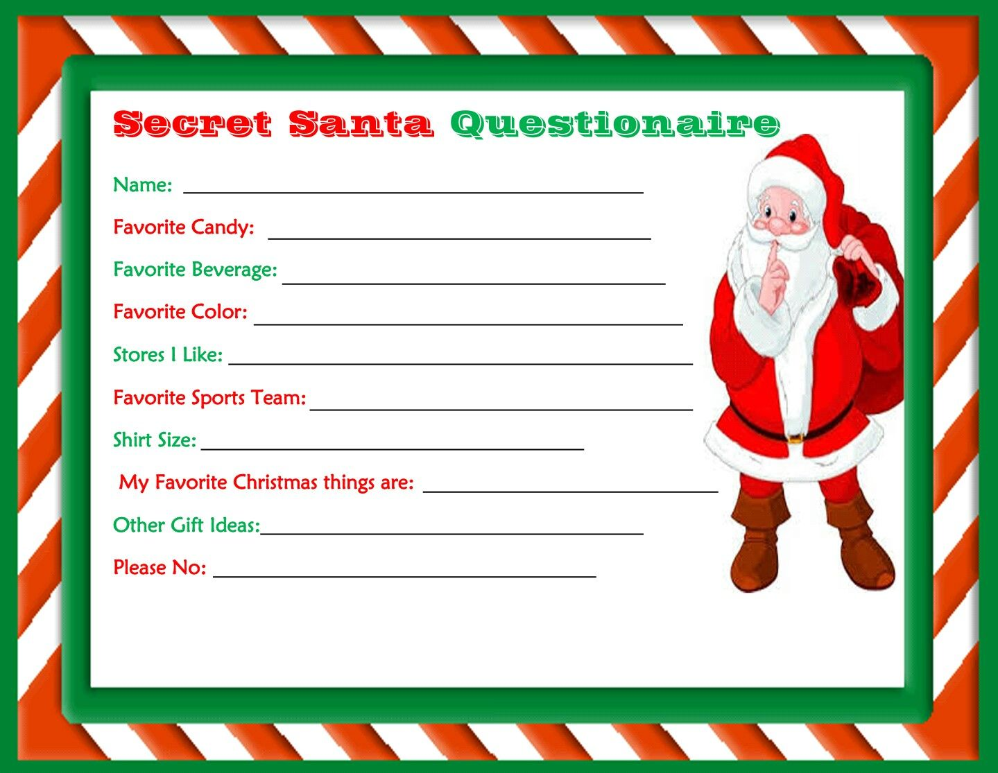 graphic regarding Free Printable Secret Santa Form named Mystery Santa Drawing Slips Absolutely free down load least difficult Magic formula Santa