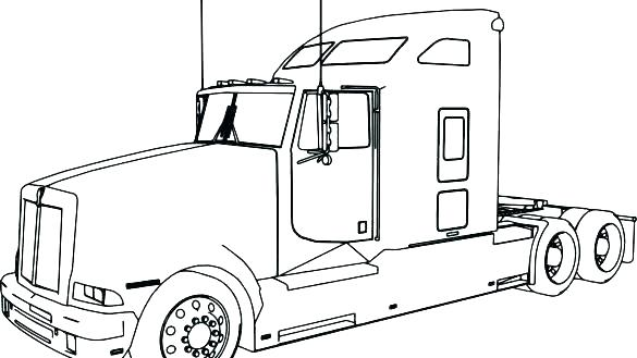 585x329 semi truck coloring pages coloring pages of semi trucks semi truck