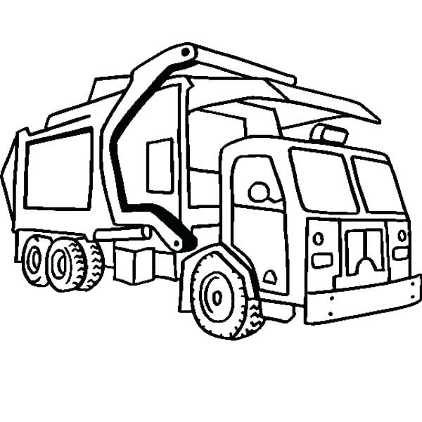 600x600 garbage truck coloring pages truck coloring pages dump truck