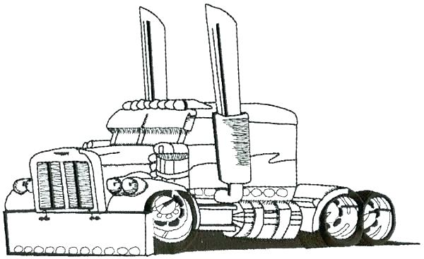 600x367 peterbilt coloring pages coloring pages coloring coloring pages