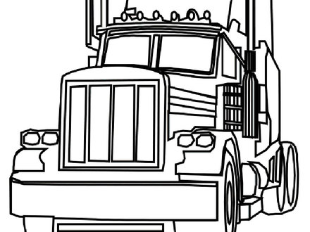 440x330 semi coloring pages, cartoon semi truck coloring