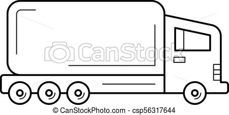 450x227 semi truck line icon semi truck vector line icon isolated