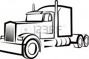 302x200 image result for semi truck outline semi truck cakes truck