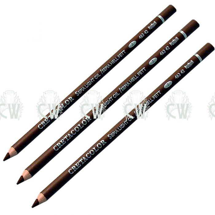 700x700 X Cretacolor Artists Light Sepia Oil Pastel Pencils Drawing
