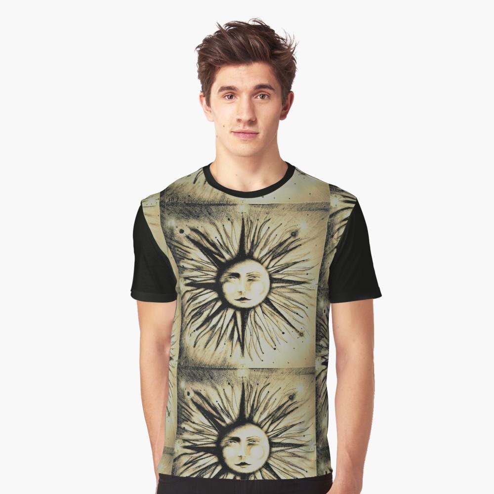 1000x1000 Art Deco Sun Sunray Sepia Drawing