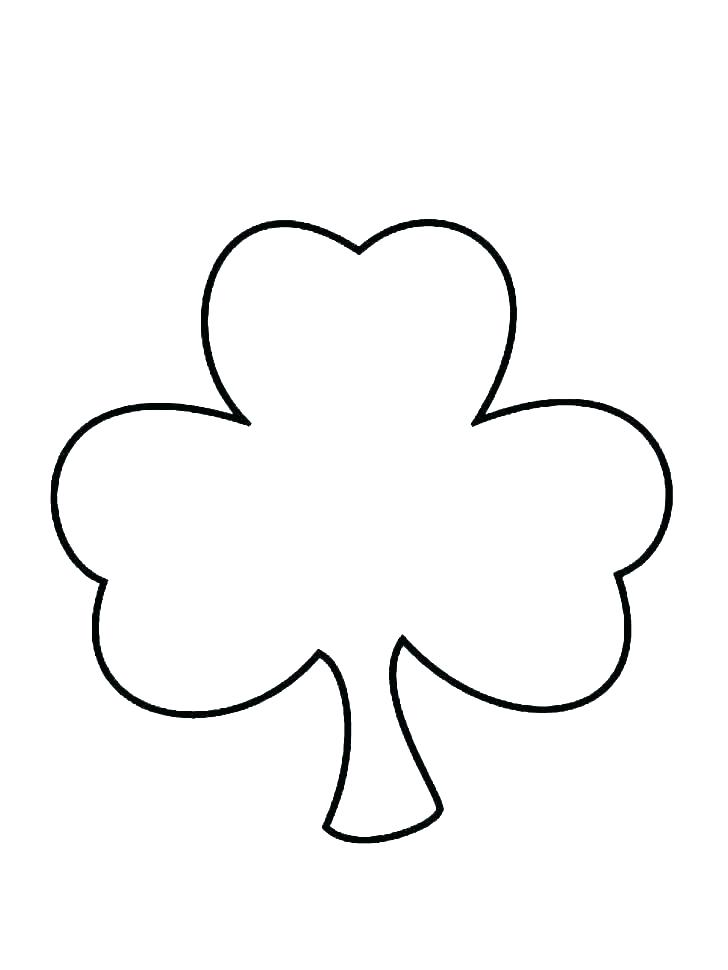 Shamrock Line Drawing | Free download on ClipArtMag