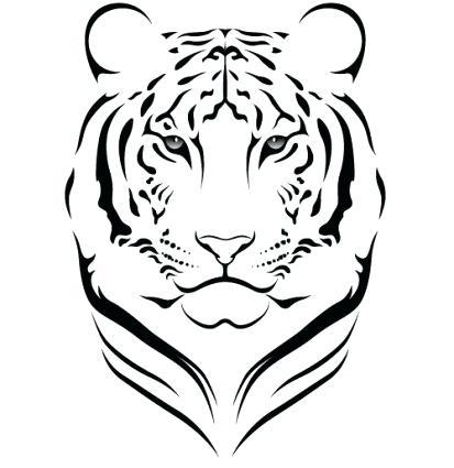 413x425 tiger face outline outline drawn tiger shark outline tiger outline