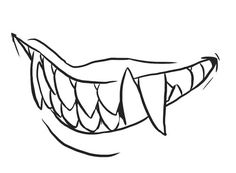 Sharp Teeth Drawing