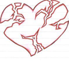 236x212 best broken heart tattoo designs drawings images broken heart