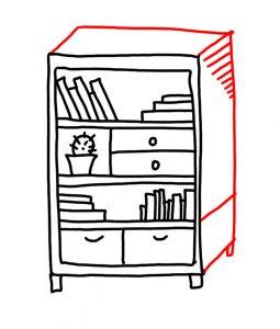 255x300 How To Doodle Bookshelf