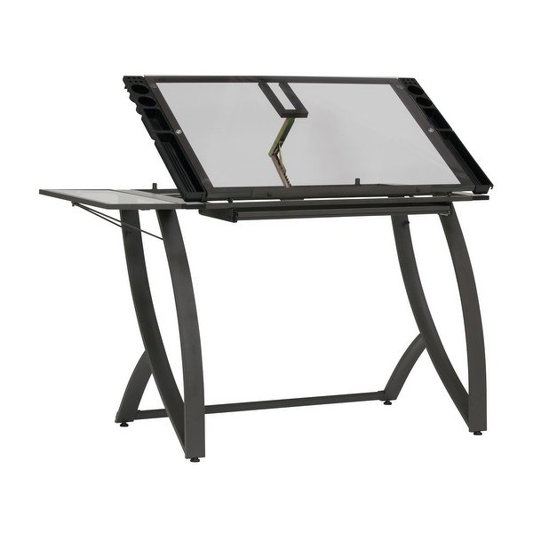600x600 Shop Offex Futura Luxe Drawingcraft Table With Drawer And Folding