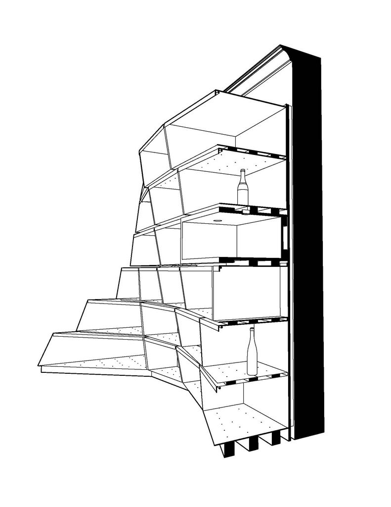 791x1024 Upper East Side Wine Store Section Perspective Drawing Caliper