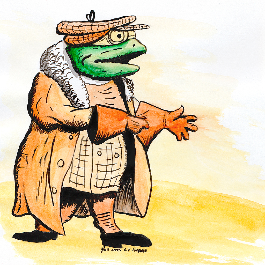 1024x1024 Draw Every Day E H Shepard's Mr Toad Study Nearsquare