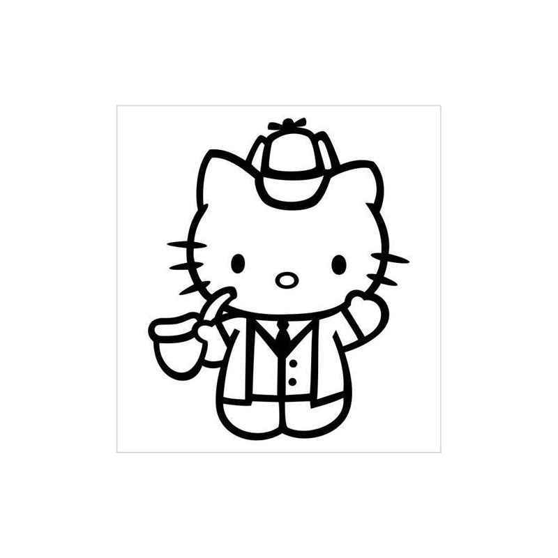800x800 Hello Kitty Sherlock Holmes Decal
