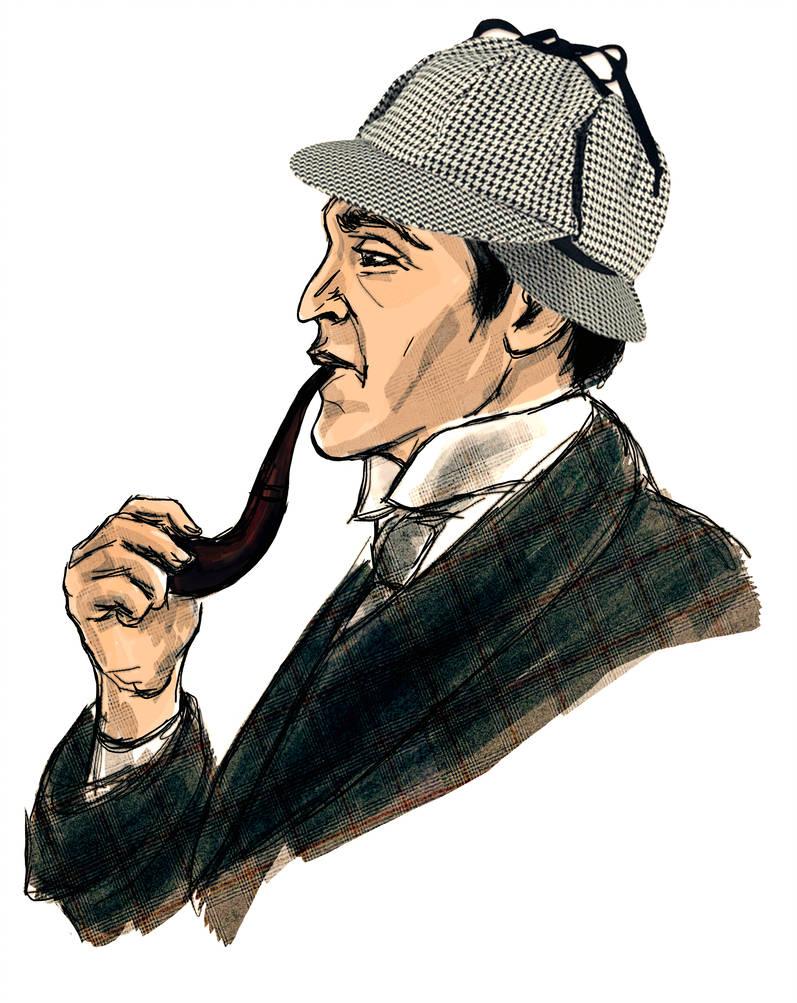 797x1003 Sherlock Holmes Illustration For The Magazine