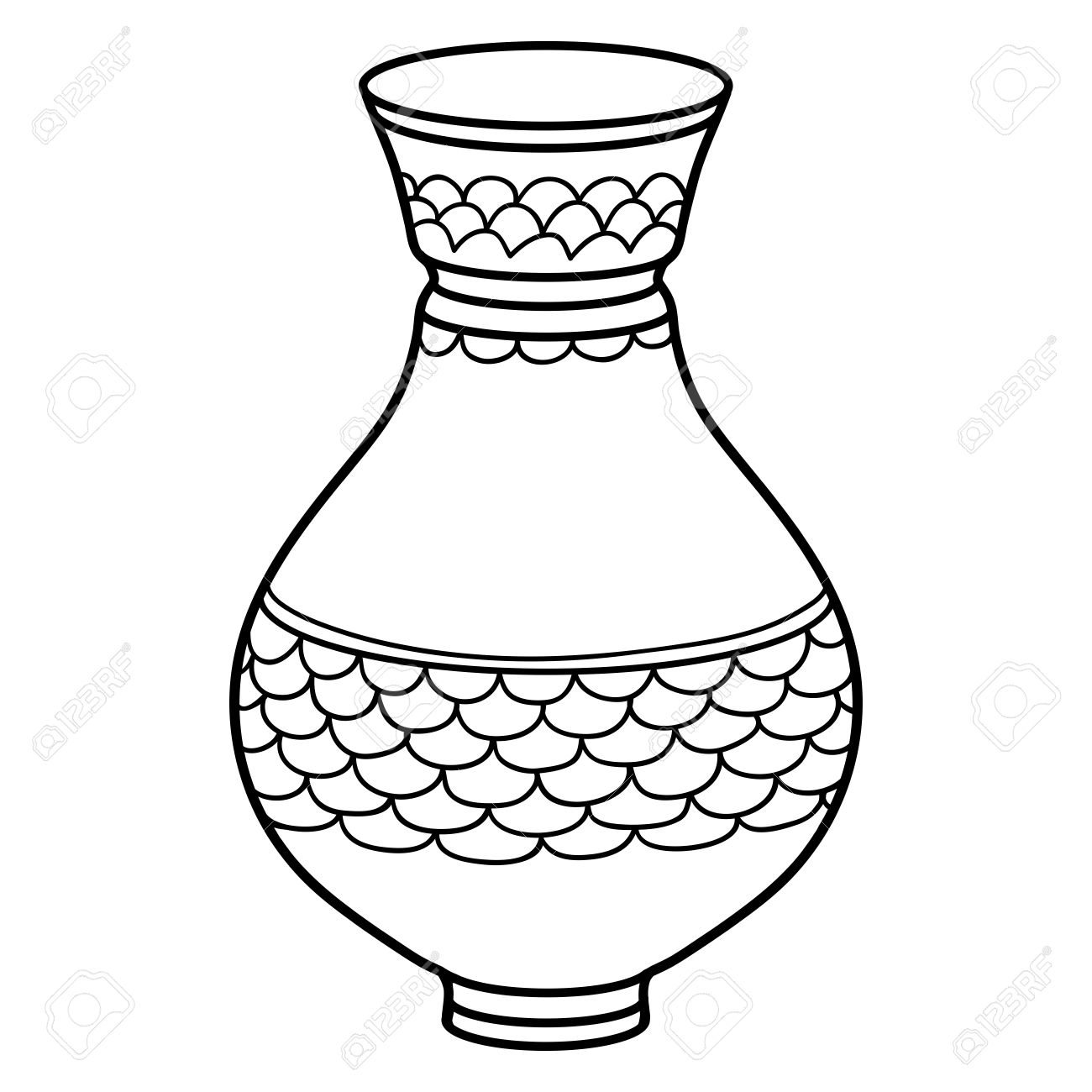 1300x1300 Vase Clipart Drawing