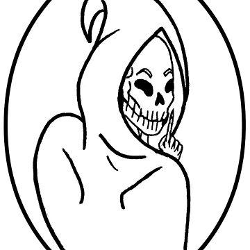 360x360 Shh Hooded Skeleton Sticker