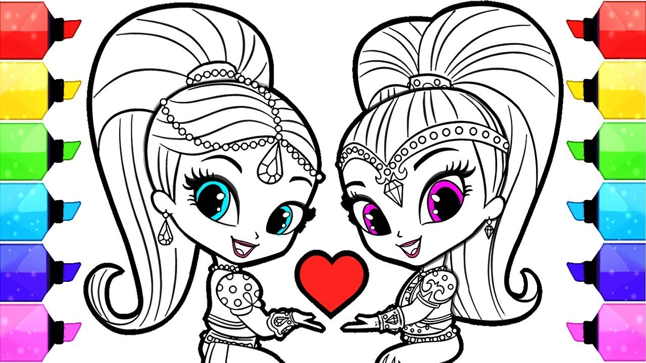 Shimmer And Shine Drawing   Free download on ClipArtMag
