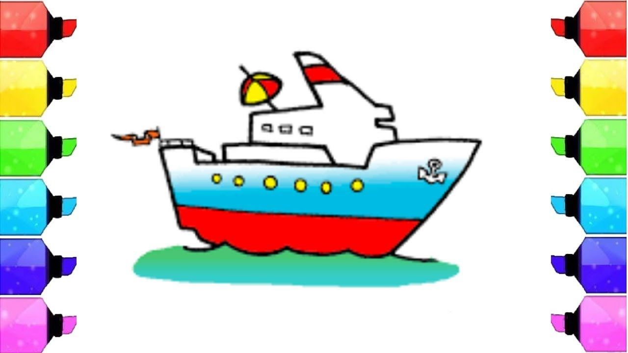 1280x720 how to draw ship ship drawing for kids ship drawing easy