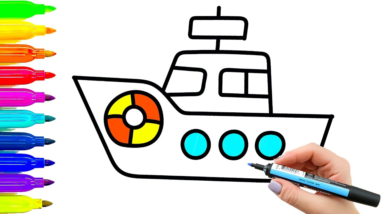 1280x720 ship drawing for kids and ship drawing for kid ship drawing