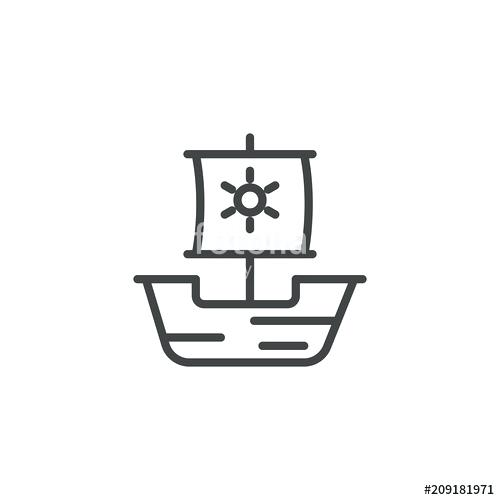500x500 ship icon outline style ship icon outline illustration of ship