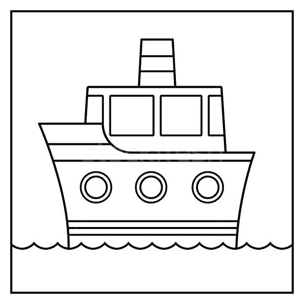 600x600 ship outline cruise ship outline x cruise ship outline drawing