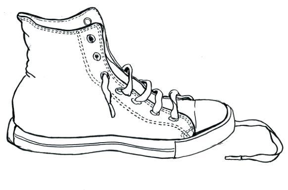 582x385 tennis shoe outline get tennis shoe outline free clipart tennis