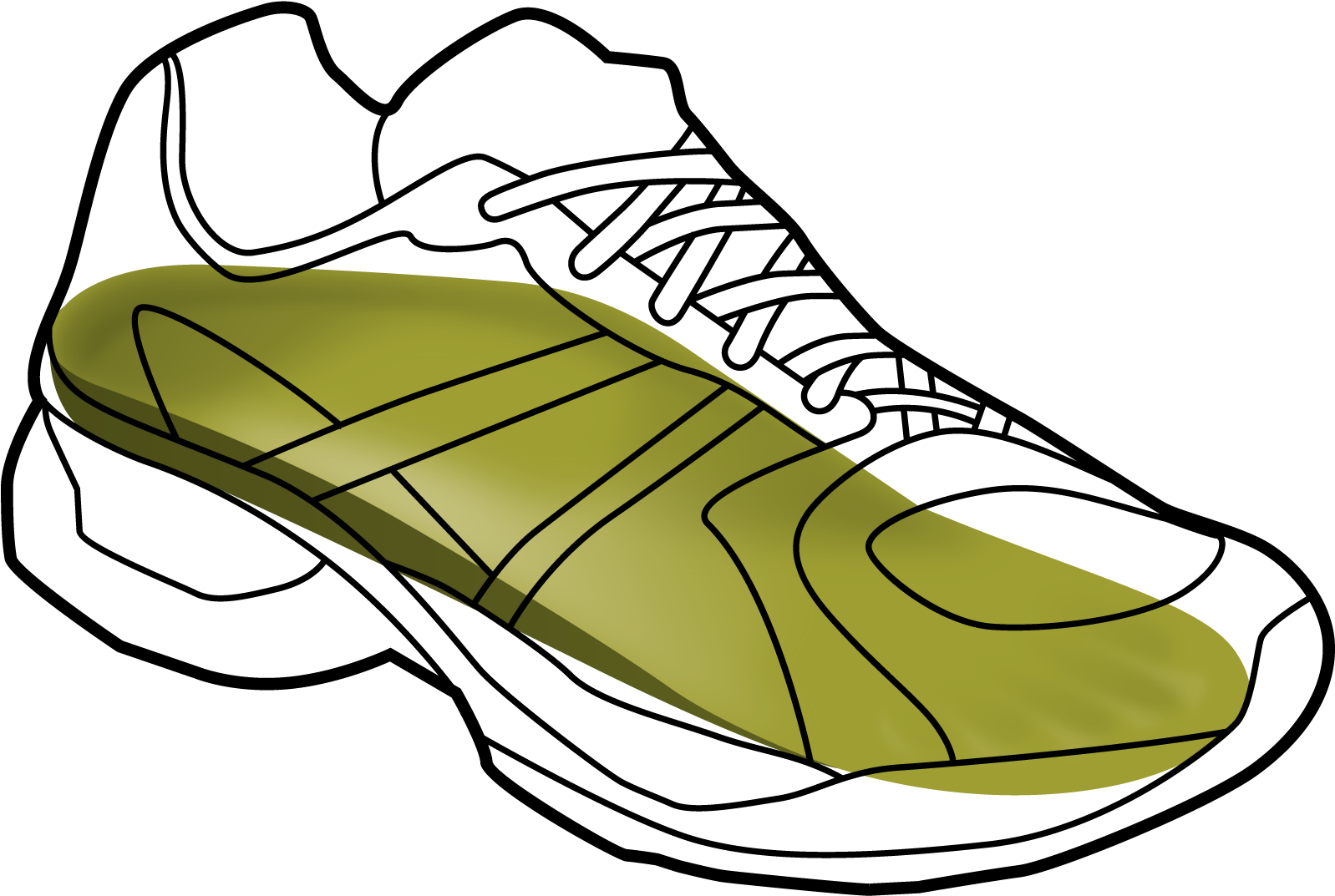 1598x1073 Download Running Shoe Drawing At Getdrawings