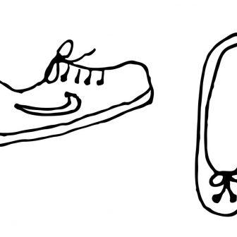 336x336 Easy Shoe Drawing Tennis Step
