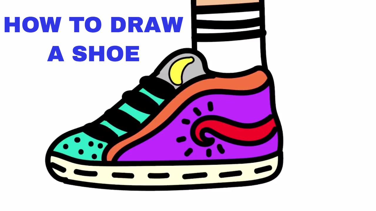 1280x720 How To Draw And Design A Shoe Drawing Tutorial For Kids