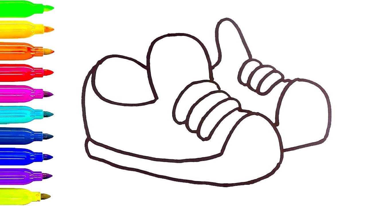 1280x720 Inspiring Shoe Drawing For Kids Gallery