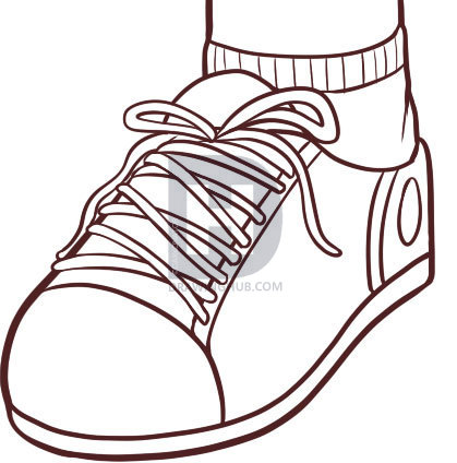 419x424 How To Draw A Shoe, Step
