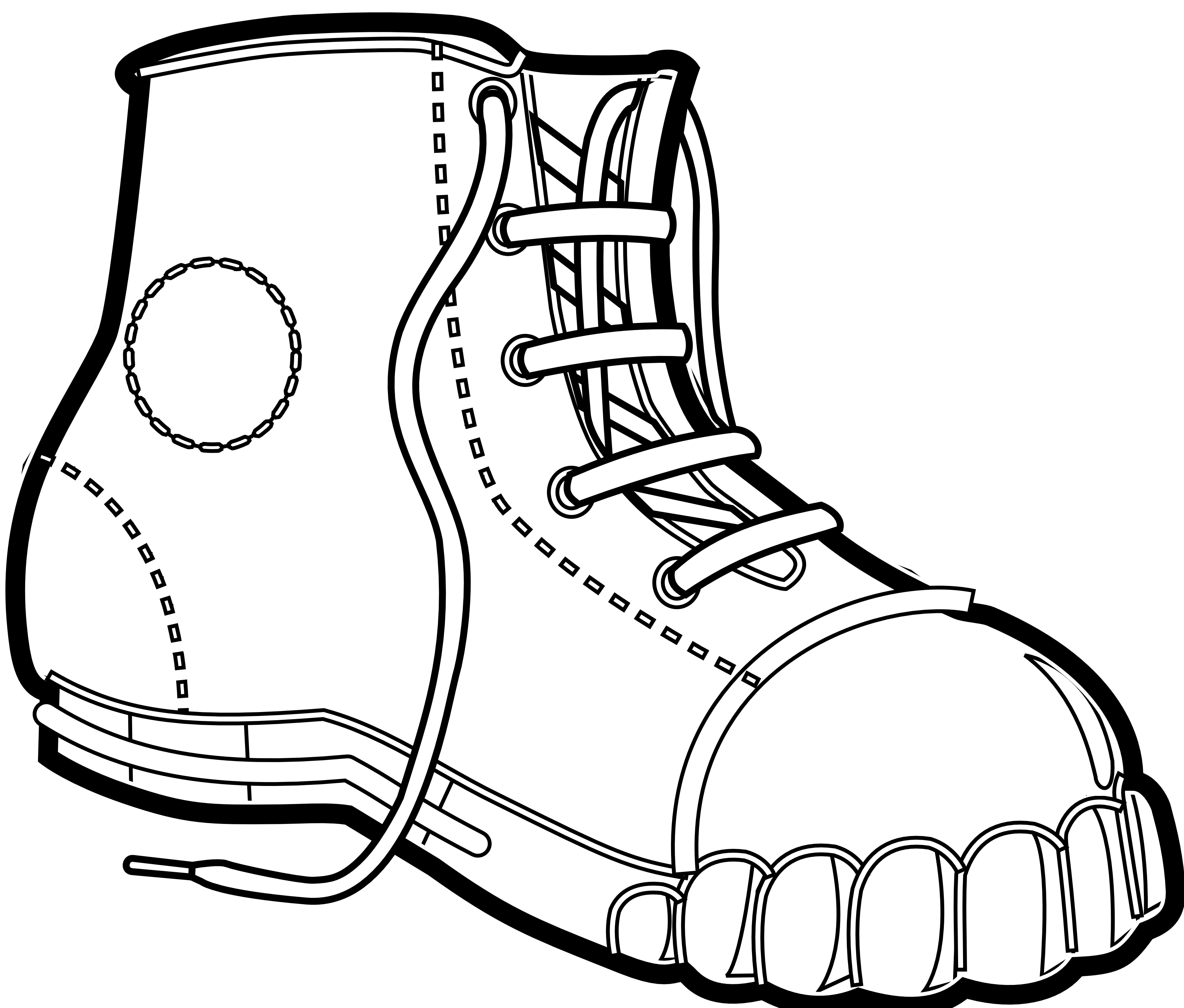 3333x2837 Drawing Shoes Untied Shoe For Free Download