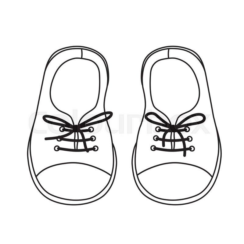 800x800 Shoe Drawing