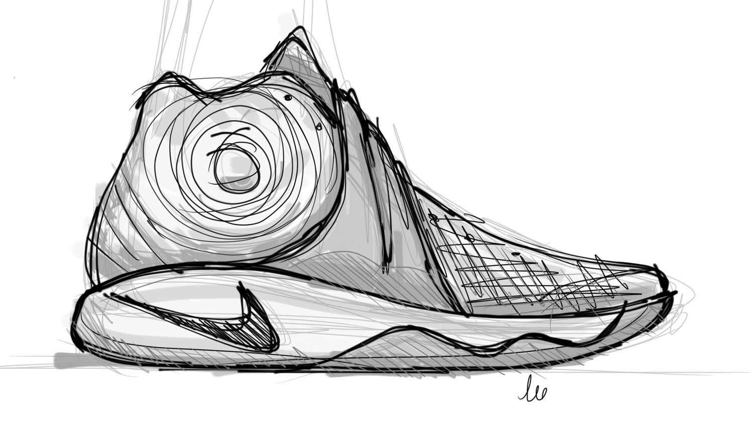 1500x846 Basketball Drawing Basketball Shoe For Free Download