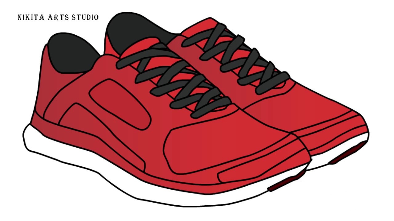 1280x720 Shoe Drawing Tutorial For Kids Shoe Drawing Step