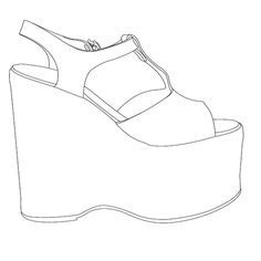236x236 Best Shoes Spec Drawings Images Shoe Template, Art Worksheets