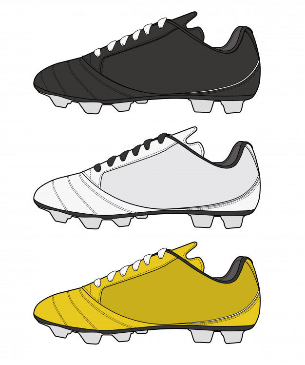 626x748 Football Shoes Fashion Flat Technical Drawing Template Vector