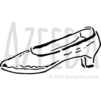 355x355 Large 'vintage Shoe' Wall Stencil Template
