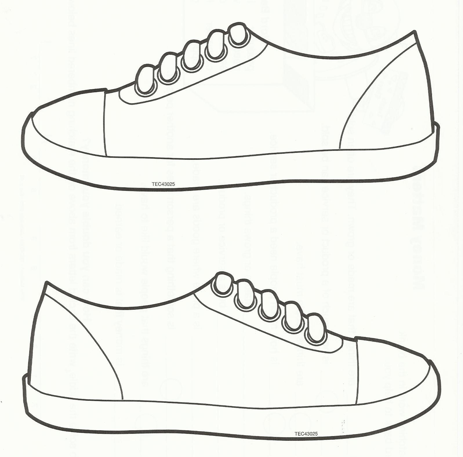 1597x1576 Paper Shoe Template For Boys Cakket