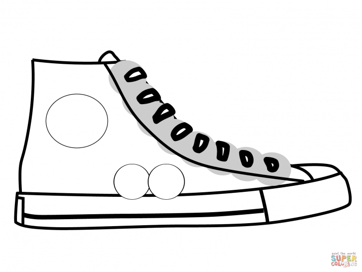 728x546 Coloring Pages Shoe Coloring Page Free Shoe Coloring