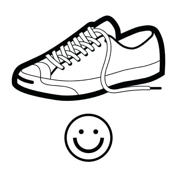 572x557 Drawing Of A Shoe At Free For Personal Use Drawn Shoe Converse