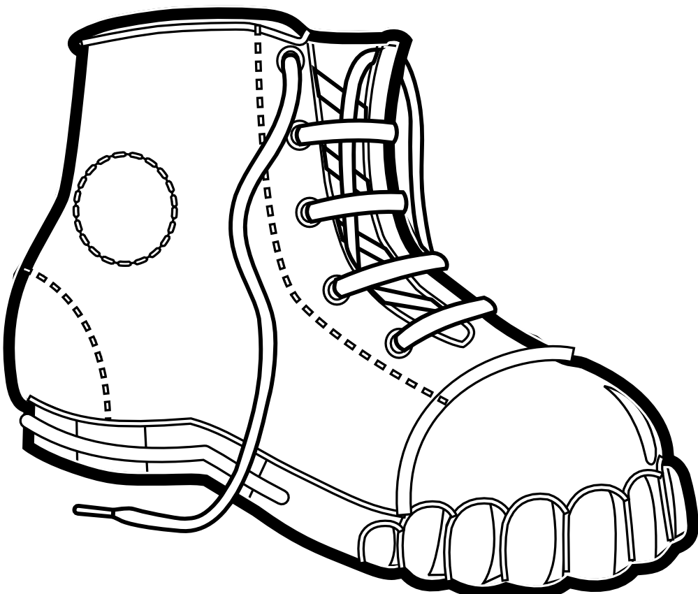 Shoe Print Drawing