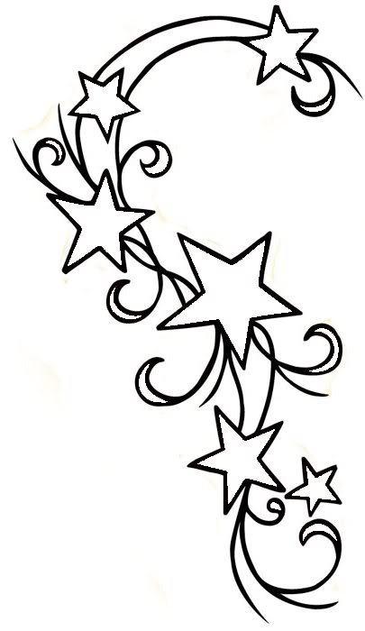 Shooting Star Line Drawing