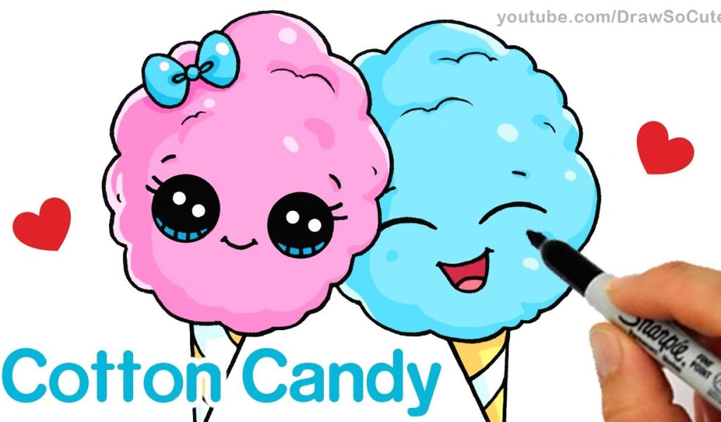 1024x600 Drawing Cute Shopkins How To Draw Cotton Candy Easy Cartoon Food