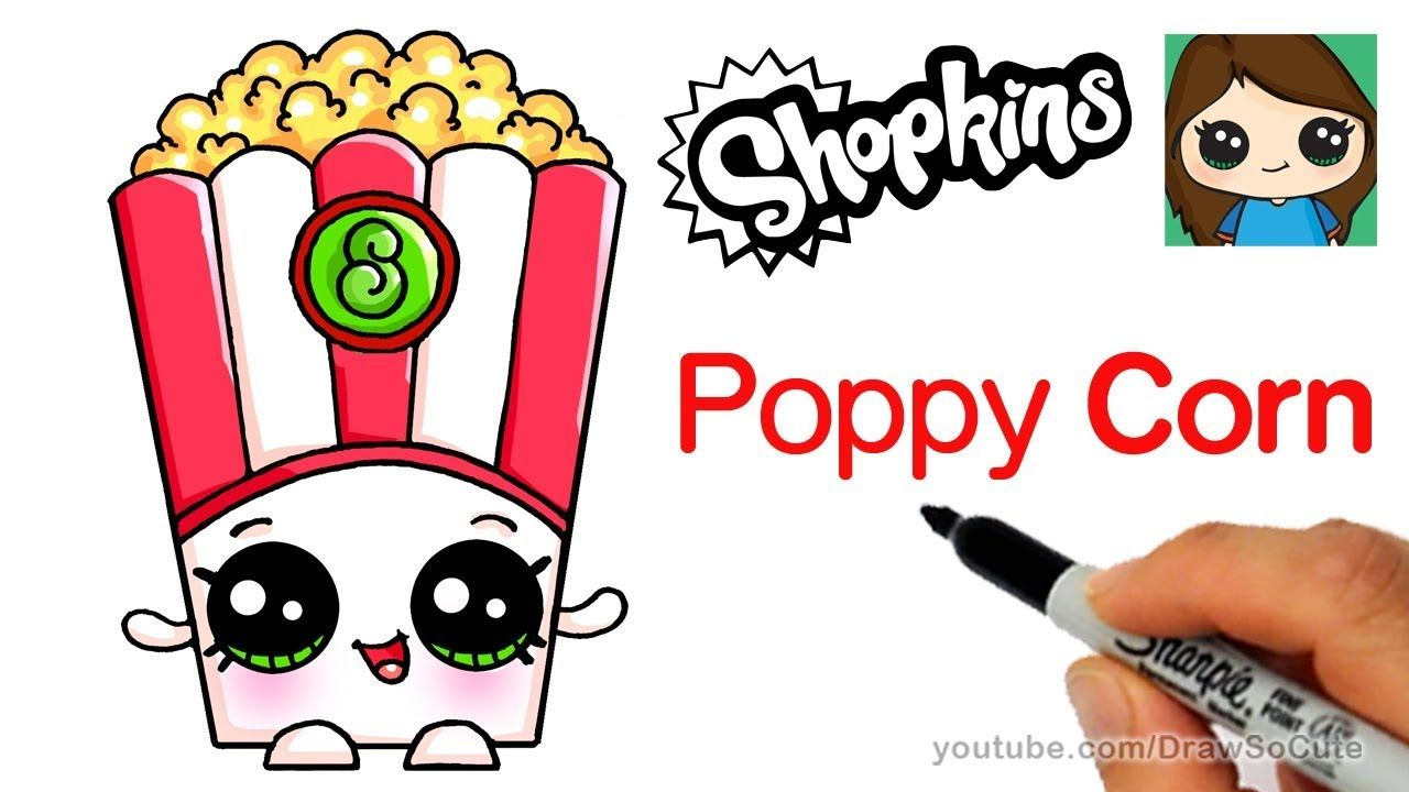 1280x720 How To Draw Poppy Corn Easy Shopkins Art Completed Shopkins