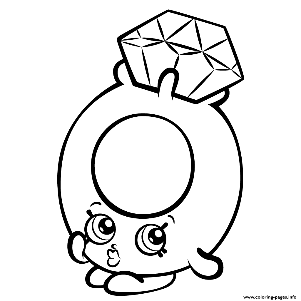 1024x1024 Roxy Ring With Diamond Shopkins Season Coloring Pages