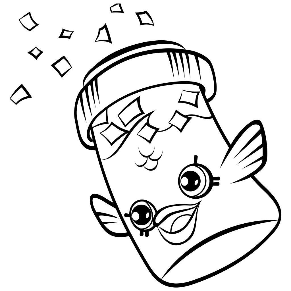 1024x1024 Shopkins Coloring Pages Inspirational Hand Drawing Fish Flake Jake